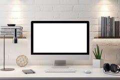 Modelaffiche in de binnenlandse, 3D illustratie van een modern ontwerp Stock Foto's
