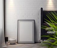 Modelaffiche in de binnenlandse, 3D illustratie van een modern ontwerp Royalty-vrije Stock Fotografie