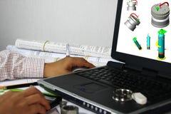 modelagem 3D da embarcação de pressão Fotografia de Stock