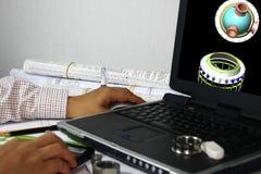 modelagem 3D da embarcação de pressão Foto de Stock