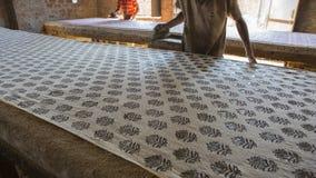 Modeldruck für Gewebe in Indien Jaipur-Modeldruck Tradi Lizenzfreie Stockfotografie