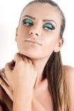 Modele com cabelo louro, composição, pele pálida Fotografia de Stock