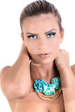 Modele com cabelo louro, composição, pele pálida Fotos de Stock Royalty Free
