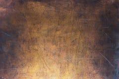 Modele el cobre o el bronce, textura del metal no ferroso fotografía de archivo