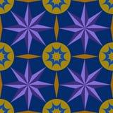 Modele el diamante púrpura del amarillo del círculo de la estrella azul de los gráficos Foto de archivo