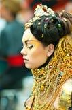 Modele en el campeonato para el maquillaje creativo Imágenes de archivo libres de regalías
