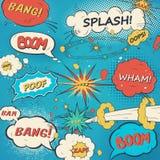 Modele las burbujas cómicas del discurso en estilo del arte pop Imagen de archivo