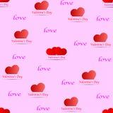 Modele los símbolos del día del ` s de la tarjeta del día de San Valentín del fondo con los corazones - vector Imagen de archivo