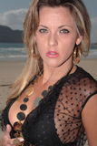 Modele na praia Foto de Stock
