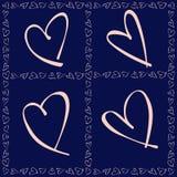 Modele para o cartão do dia de Valentim Foto de Stock Royalty Free