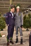 Modele pozują być ubranym Nick Graham podczas Nowy Jork mody tygodnia mężczyzna spadku, zimy/2016 Zdjęcia Stock