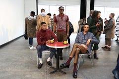 Modele pozują przy David jelenia prezentacją Zdjęcia Stock