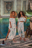 Modele pozują w projektanta pływania odzieży podczas Mara Hoffman pływania mody prezentaci Obrazy Stock