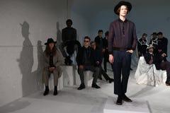 Modele pozują podczas Krammer Stoudt i - prezentacja Zdjęcie Royalty Free