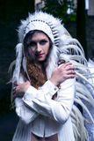 Modele przygotowywają występ na Międzynarodowym festiwalu obliczu, projekcie i Fotografia Royalty Free