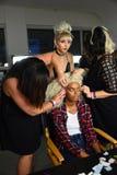 Modele przygotowywają zakulisowego podczas Blonds na Wrześniu 2016 Zdjęcia Stock