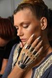 Modele przygotowywają zakulisowego podczas Blonds na Wrześniu 2016 ZROBILI moda tygodniowi Zdjęcie Royalty Free