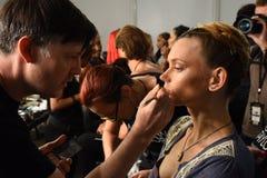 Modele przygotowywają zakulisowego podczas Blonds na Wrześniu 2016 ZROBILI moda tygodniowi Fotografia Stock