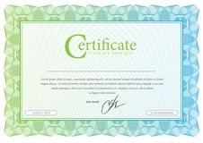 Modele que é usado na moeda e nos diplomas Fotografia de Stock Royalty Free
