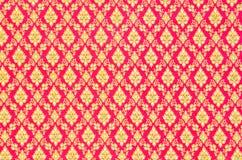 Modele a textura do handmad tailandês tradicional geral do nativo do estilo Fotos de Stock