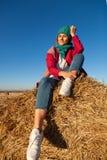 Modelebensstilporträt der jungen modischen Frau lizenzfreies stockfoto
