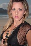 Modelez à la plage Photo stock
