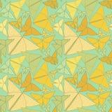 Modelez avec le beau dessin de papillons d'origami CCB sans couture Photos stock