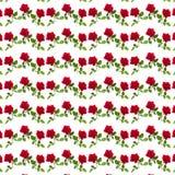 Modelez la rose de rouge sur une tige des feuilles vertes Photos libres de droits