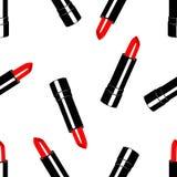 Modelez le rouge à lèvres rouge en paquet noir illustration libre de droits