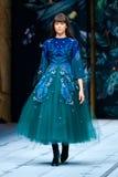 Modelgangbaan voor FABERLIC door ALENA AKHMADULLINA loopbrug bij de lente-Zomer 2017 Mercedes-Benz Fashion Week Russia stock afbeelding