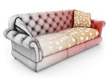 Modelinf of sofa Stock Photos