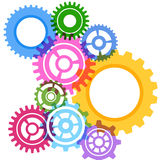 Modeling bright gear wheels background Stock Photo
