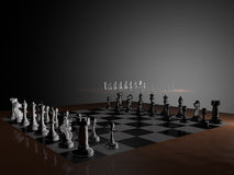 Modeling chess Royalty Free Stock Photos