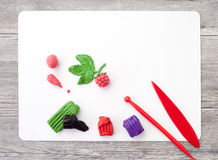 Modeling clay crafts at the lessons of labor in school Stock Photos