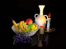 Modeling fruit basket Stock Photos
