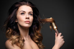 Modeling hair brush. Royalty Free Stock Photo
