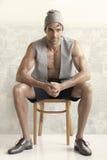 Modeling man Royalty Free Stock Photo
