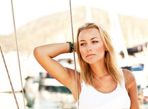 Modeling outdoor Royalty Free Stock Images