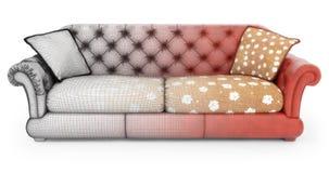 Modeling of sofa Royalty Free Stock Image