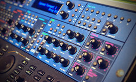 Modeling Synth. In a studio rack stock images