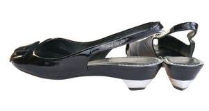 Modeling women's shoes Stock Photo
