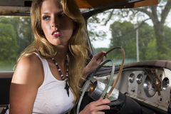 Modelinside automobile Royalty-vrije Stock Fotografie