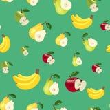 modell Äpplen, bananer och päron Royaltyfria Foton