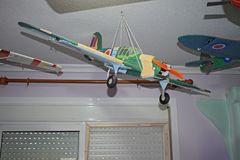 Modell Aircraft Hurricane royaltyfri bild
