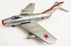 Modell Airplane för Mig 15 Fotografering för Bildbyråer