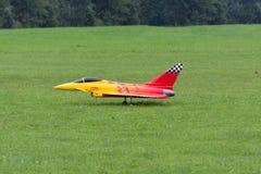 Modell Airplane - stråle - Modelljet - Eurofighter Fotografering för Bildbyråer