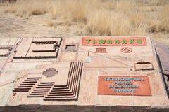Modell alter Stadt Tiwanaku, Bolivien Lizenzfreie Stockbilder