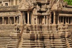 Modell av Angkor Wat på Wat Phra Kaew Arkivfoto