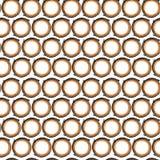 Modell av apelsinsvartcirklar Royaltyfri Fotografi