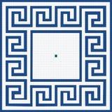 Modell av blåa fyrkanter Royaltyfria Foton